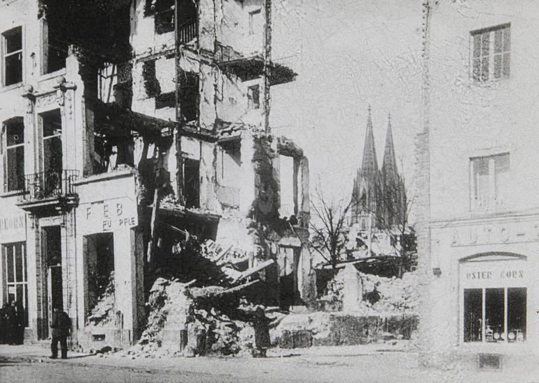 auto-zubehör, köln, Kölner Dom, oster korn, osterkorn, trümmer, Zerstörung, zweiter weltkrieg