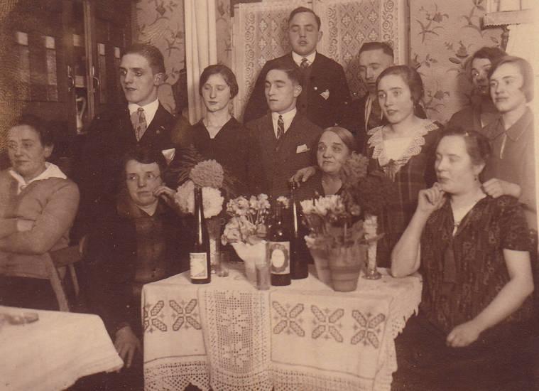 Augen, Blitzlicht, familie, Familienfeier, feier, Flasche