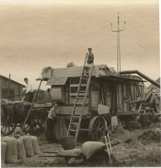 Mobile Dreschmaschine