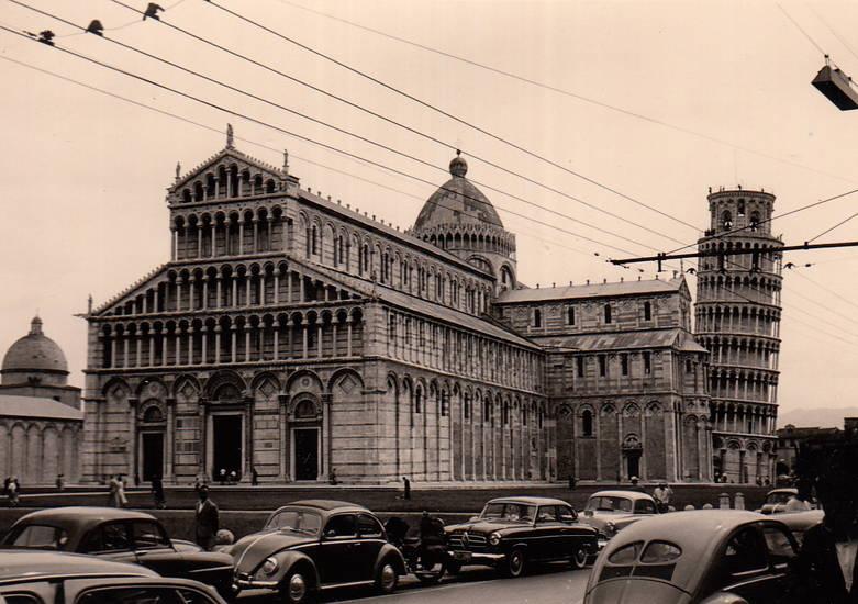 auto, dom, Italien, KFZ, Minsk, Pisa, PKW, Santa Maria Assunta, schiefe Turm von Pisa, VW Käfer