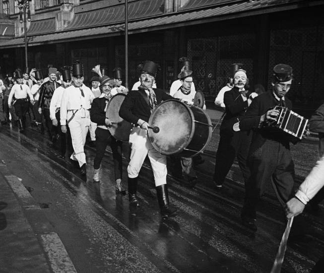 Clown, instrument, karneval, köln, Narren, stiefel, trommel