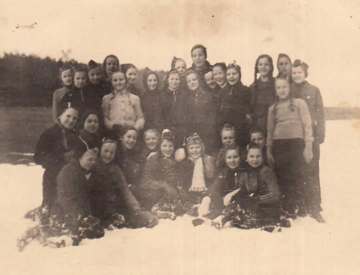 2.Weltkieg, kinder, Kinderverschickung, Polen, schnee, Spaß, winter