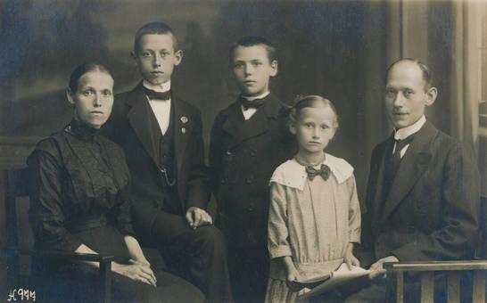 Familienfoto vom Fotografen