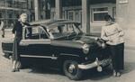 Taxifahrerin und Fahrgast