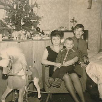 Familienbild an Weihnachten