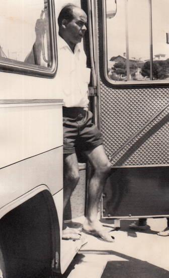 aussteigen, bus, KFZ, Reisebus