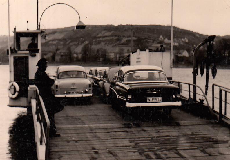 auto, fähre, KFZ, Opel-Olympia-Rekord, PKW, rekord-p2, VW-Käfer