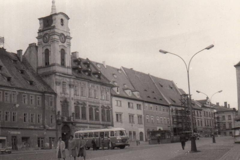 Böhmen, bus, cheb, eger, Marktplatz, Rathaus, Tschechien, Uhrturm