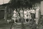 Familie im Garten
