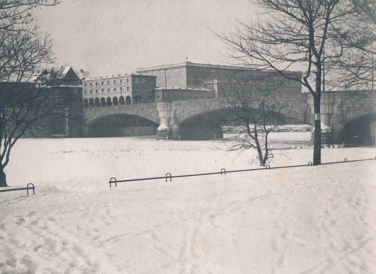 Eis, eisgang, mülheim, Mülheim an der Ruhr, Ruhr, Schlossbrücke, schnee, Stadthalle, winter, zugefroren