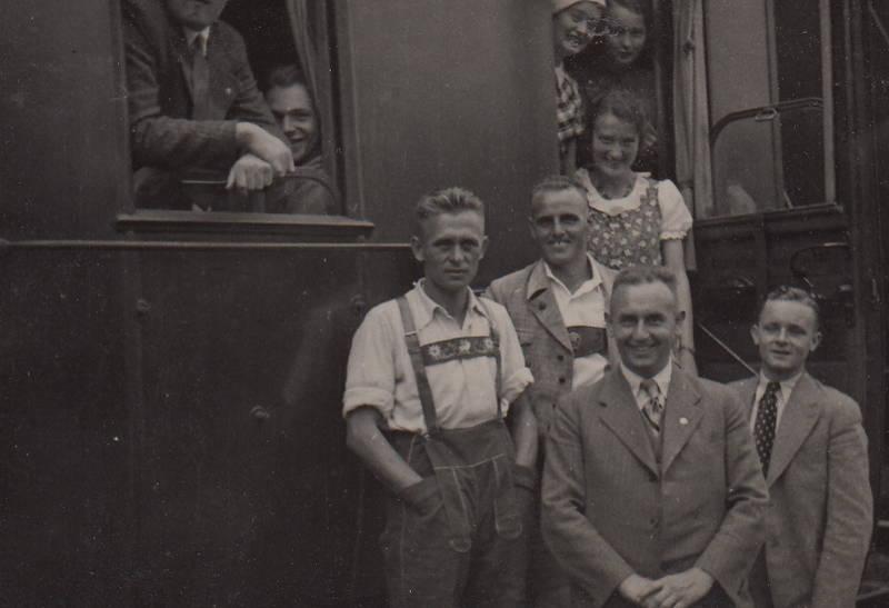 anzug, Eisenbahn, lederhose, mode, reise, zug