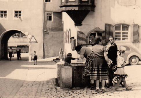 Erfrischung auf dem Marktplatz