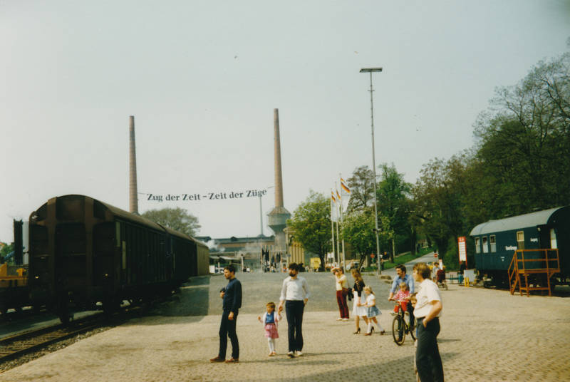 150 jahre, ausflug, bahn, Deutsche Bahn, deutsche eisenbahn, Eisenbahn, familie, feier, Jubiläum, kind, zeit der züge, zug, Zug der Zeit, Züge