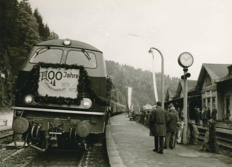 bahn, bahnhof, Eisenbahn, feier, Jubiläum, schwarzwald, schwarzwaldbahn, triberg, zug