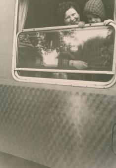 Am Zugfenster