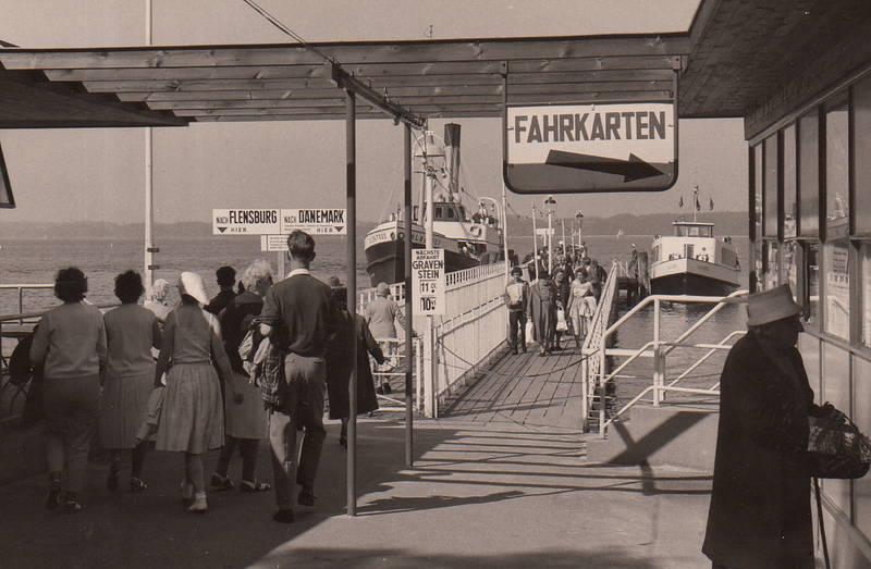 Anleger, dänemark, fahrkarten, Flensburg, Glücksburg, gravenstein, kasse, Passagierschiff, schiff