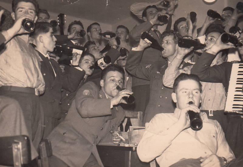 Akkordeon, feier, Feiern, fest, Flasche, musik, Weihnachten