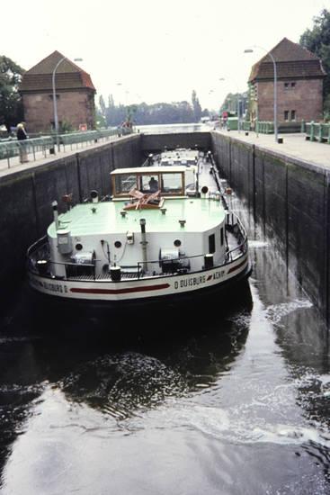 boot, Minden, Mittellandkanal, schachtschleuse, schiff, Schleuse, wasser, Weser