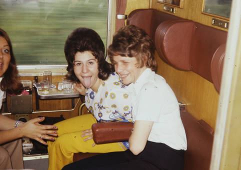 Spaß im Zug