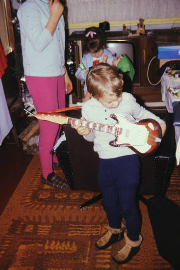 e-gitarre, kind, Kindheit, musik, musikinstrument, Spielzeug