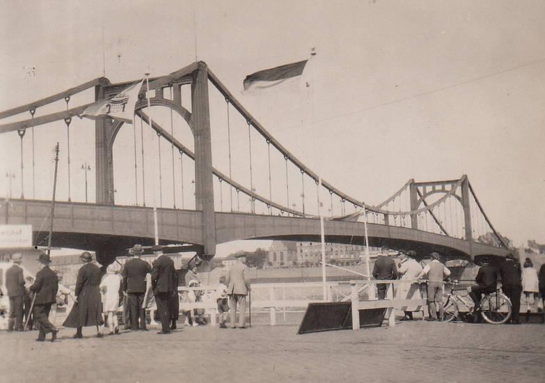 bendorf, brücke, deutz, Hängebrücke, Hindenburg, köln, Rhein, Ufer