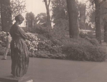 Skulptur im Rheinpark