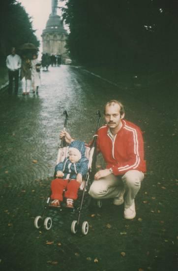 ausflug, Hermannsdenkmal, kinderwagen, Kindheit, vater