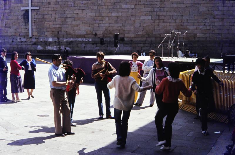 ferien, Kreuz, musik, musiker, Platz, santiago de compostela, Spanien, tanz, tanzen, urlaub