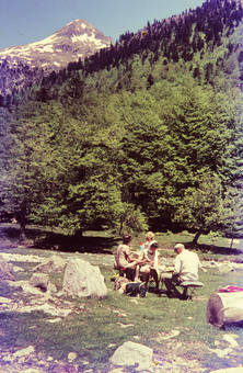 Picknick in den Pyrenäen