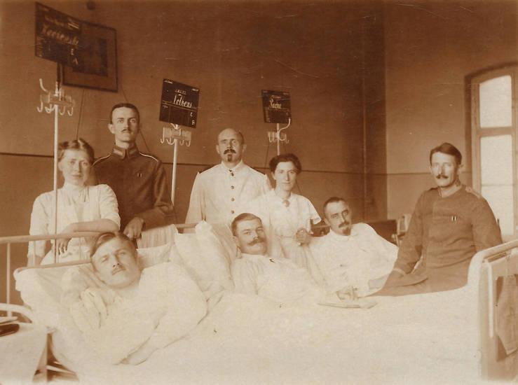 Arzt, bett, krankenhaus, Krankenschwester, Krankenstation, Lazarett, oberarzt, Schwester, soldat