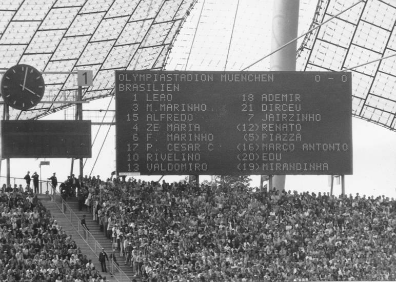 1972, Brasilien, Mannschaftsaufstellung, münchen, Olympia, olympiastadion, sport, wettkampf