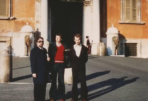 Vor dem Quirinalspalast in Rom
