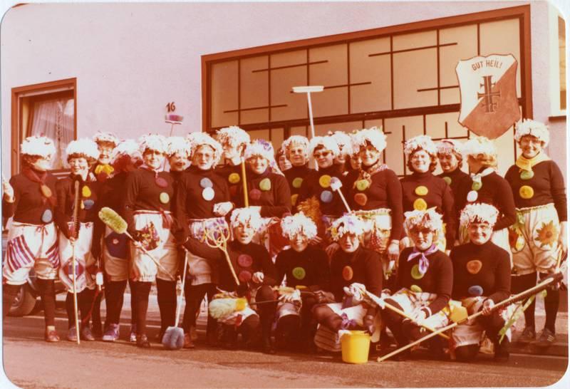 Fasching, frauenverein, Gruppenbild, Kostüm, Mainz-Kostheim, turnverein, verkleidung