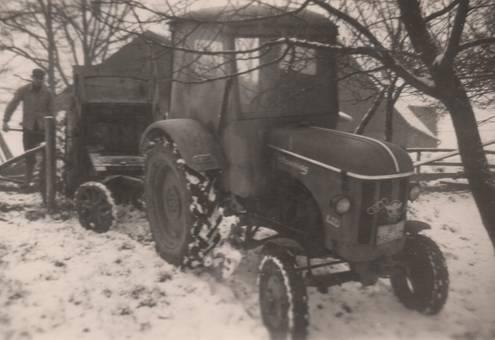 Winterarbeit auf dem Lande