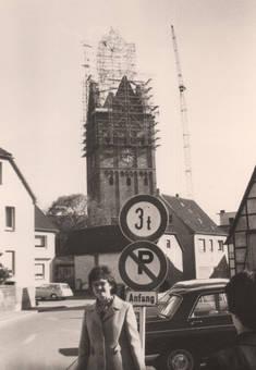 Erwitter Kirchturm nach Brand