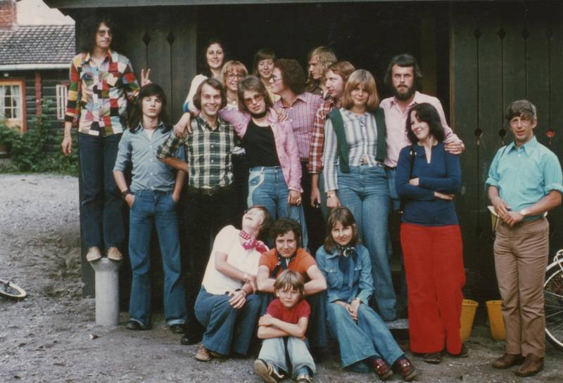 halstuch, Hemd, Jeanshemd, jeanshose, jugend, Jugendherberge, mode, Norwegen, Notodden, schlaghosen, Teletunet