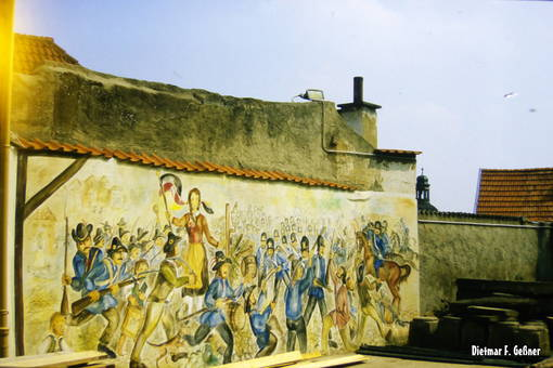 Bemalte Mauer