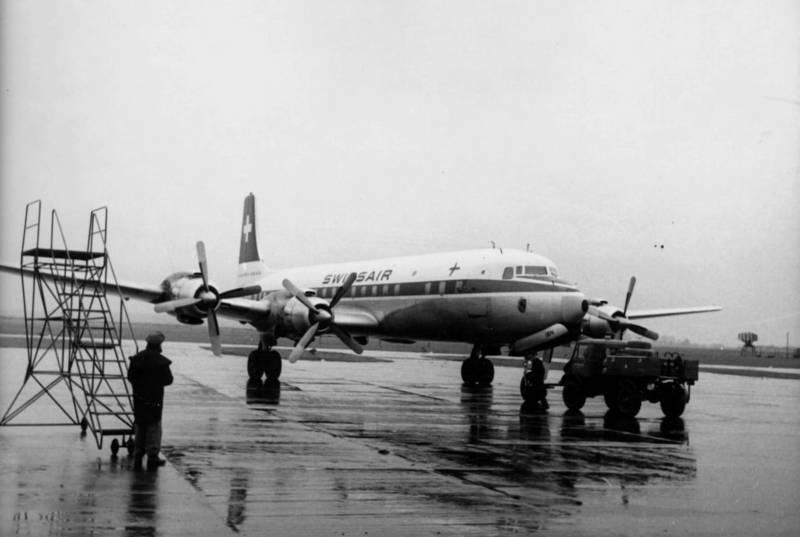 flugzeug, Propeller, rollfeld, Swissair