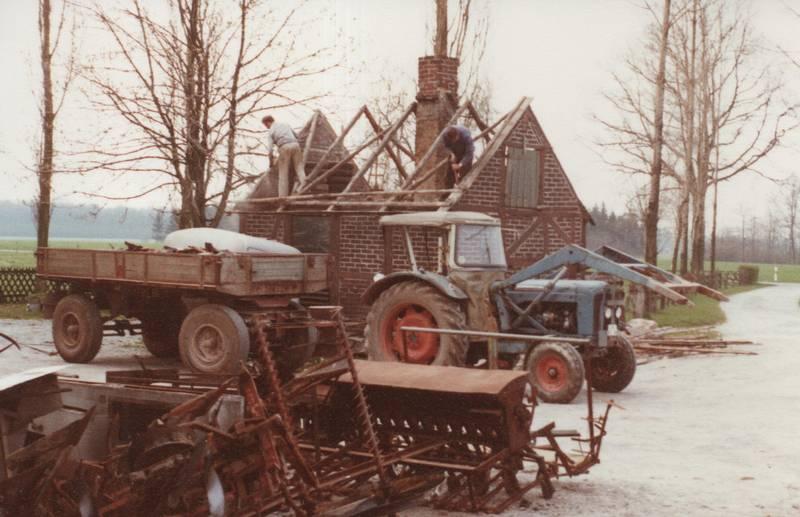 anhänger, Backhaus, Dach, Fordson, Landmaschinen, traktor, Trecker