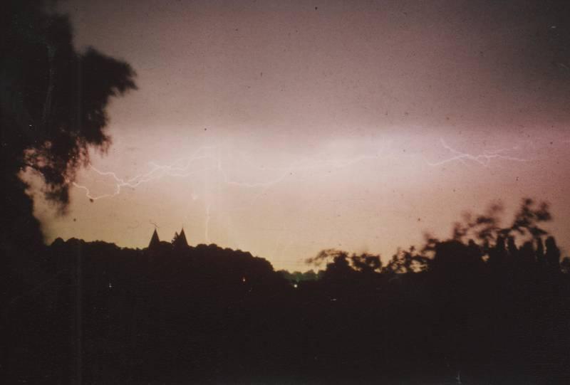 Blitz, Cappel, Gewitter, Stiftskirche