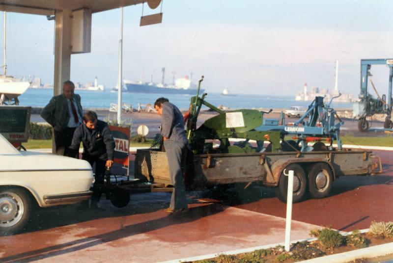 anhänger, bmw-e3, Frankreich, Hafen, Landwirt, Le Havre, leistungspflügen, pflug, PKW, Weltmeisterschaft