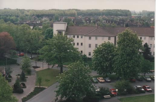 Blick auf altes Krankenhaus