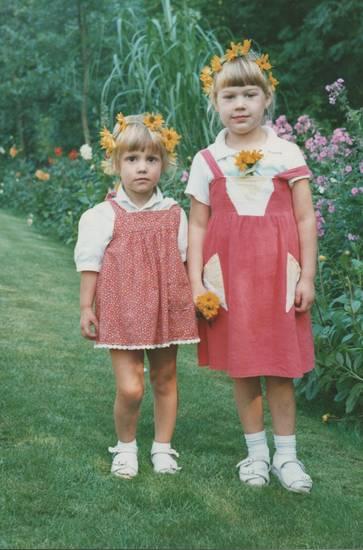 Blumenkranz, Blütenkranz, garten, Kindheit, mode