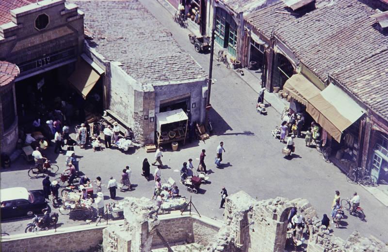 Bandabuliya, haus, markt, markthalle, nikosia, reise, Ruine, stadt, stand, straße, urlaub, Verkaufsstand, zypern