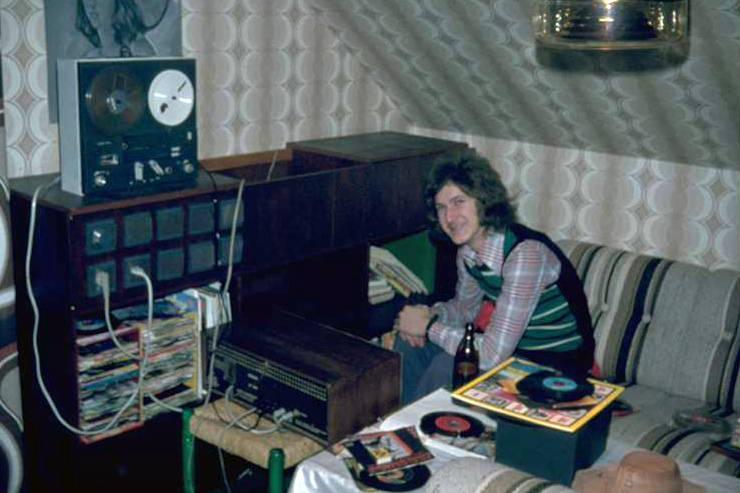 Anlage, Besuch, DJ, musik, musikanlage, Plattenspieler, Schallplatte, Schallplattenspieler