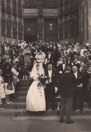Besucher, dom, Gäste, Hochzeit, Hochzeitspaar, köln, Kölner Dom