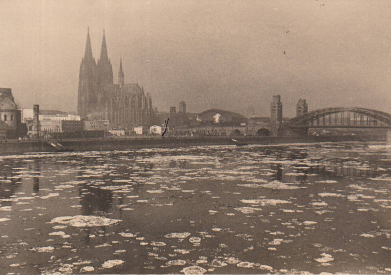 Eisscholle, hohenzollernbrücke, köln, Kölner Dom, winter