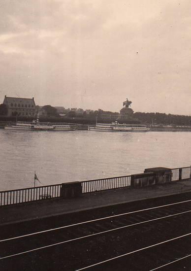 Deutsches Eck, fluss, Koblenz, Mosel, Rhein, schiff