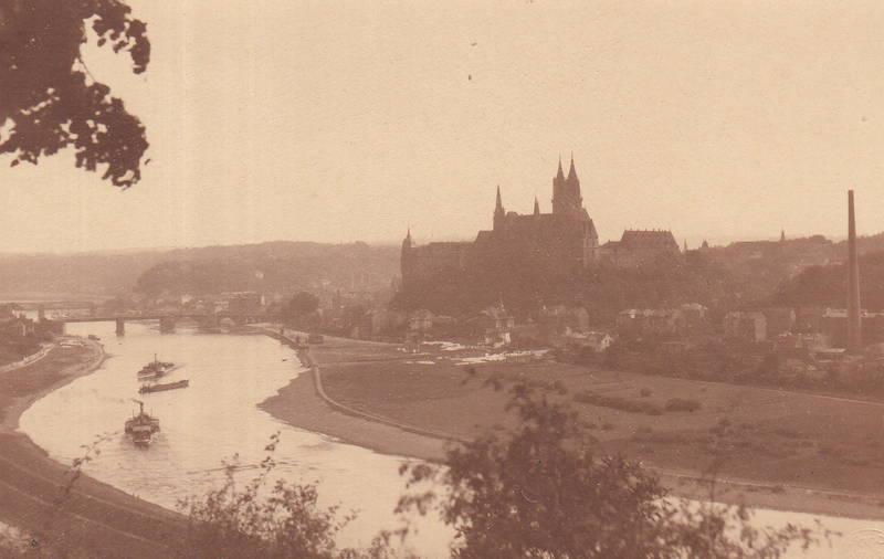 albrechtsburg, brücke, Burgberg, dom, Elbe, fluss, kirche, Meißen, Meissen, Sachsen, schiff, Ufer