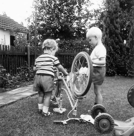 fahrrad, garten, Hersel, Kindheit, Reperatur, Uedorf